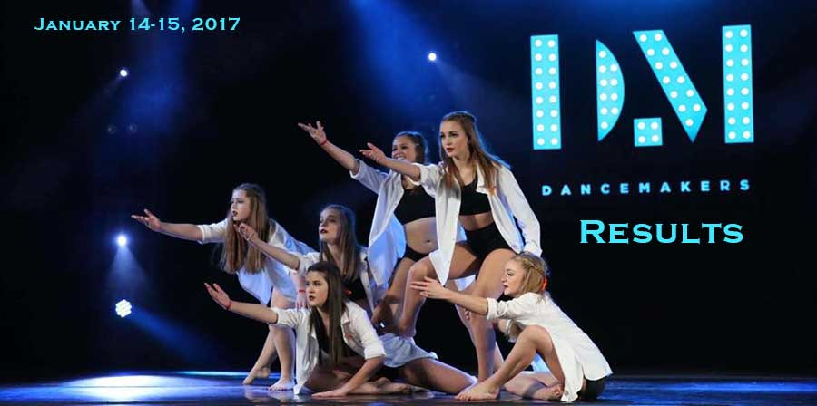 Dance Makers 2017 Results
